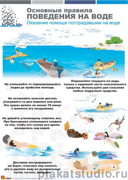 Правила поведения на воде летом инструкция